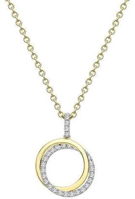 Kiki McDonough Lola 18k Gold Diamond 2-Ring Pendant Necklace