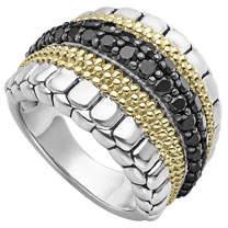 Lagos Diamond Lux Ring w/ 18k Gold, Size 7