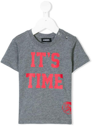 Diesel It's Time 2 Party print T-shirt