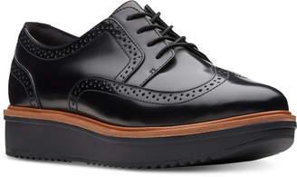 Clarks Artisan Women's Teadale Maira Platform Oxfords Women's Shoes