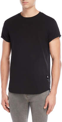 G Star Raw Black Cuffed Tee