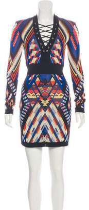 Balmain Structured Knit Dress multicolor Structured Knit Dress