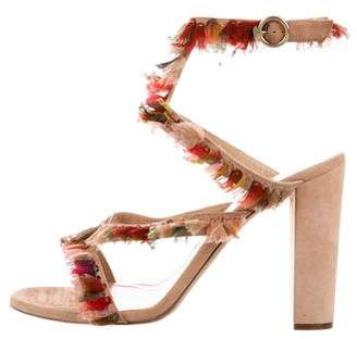 Chloé Suede Fringe-Trimmed Sandals