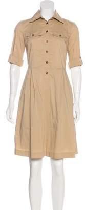 Tory Burch Button-Up Knee-Length Dress