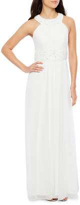 Decoded Sleeveless Embellished Evening Gown