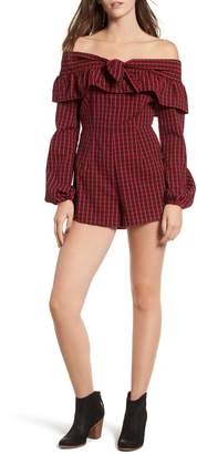 The Fifth Label Campus Off the Shoulder Romper