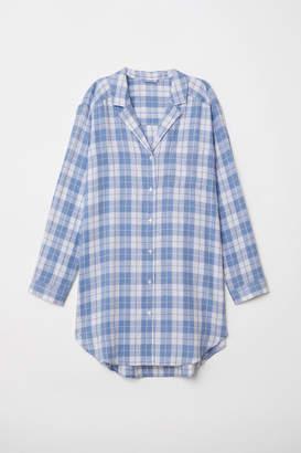 H&M Flannel Nightshirt - White
