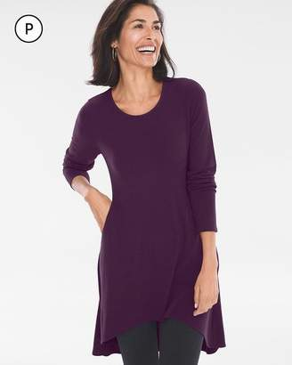 Petite Button-Back Tunic