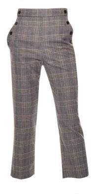 Sandro Storm High Waist Plaid Pants