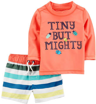 Carter's Stripe Rash Guard Set - Baby