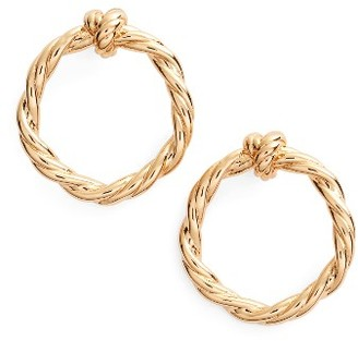 Women's Tory Burch Twisted Knot Stud Earrings $75 thestylecure.com
