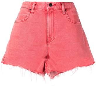 Alexander Wang frayed-hem denim shorts