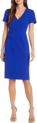 Harper Rose Short Sleeve V-Neck Sheath Dress