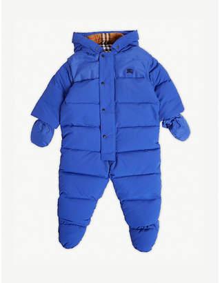 Burberry Ezra padded down snowsuit 1-18 months
