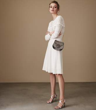 Reiss DARCIE FIT AND FLARE DRESS Off White