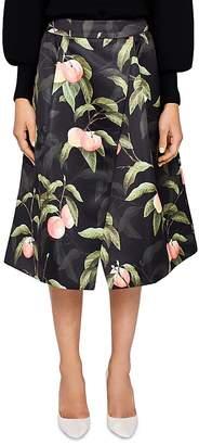 Ted Baker Alessio Peach Blossom Midi Skirt