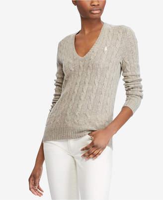 Polo Ralph Lauren V-Neck Wool-Cashmere Blend Sweater