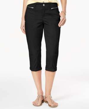 Style&Co. Style & Co Zipper-Pocket Capri Pants, Created for Macy's