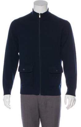 Michael Kors Wool Zip-Up Sweater navy Wool Zip-Up Sweater