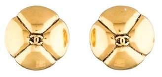 Chanel CC Clover Earrings