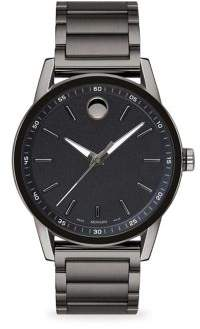 Movado Museum Sport Round Gray PVD and Black PVD Bracelet Watch