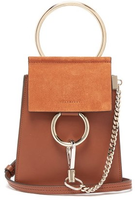fcbd076191 Chloé Faye Mini Suede Panel Leather Cross Body Bag - Womens - Tan