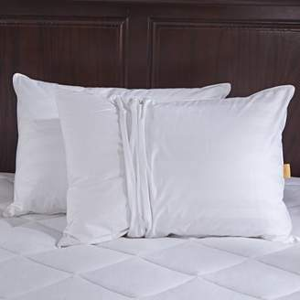 Pure Down Puredown White Goose Down Pillow with 2 free pillow protectors, King Size, White, Set of 2