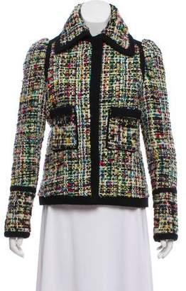 Balenciaga 2007 Tweed Pointed Collar Jacket