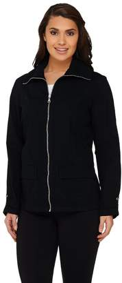 Denim & Co. Active Golf Ripstop Zip Front Jacket