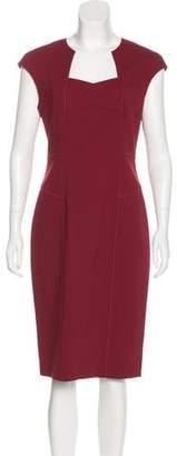 Magaschoni Wool Sleeveless Midi Dress