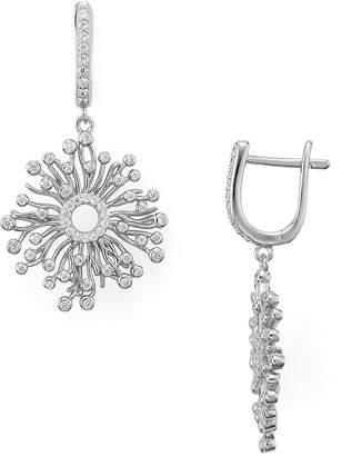 Aqua Sterling Silver Cluster Drop Earrings - 100% Exclusive