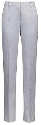 HUGO BOSS Cropped cigarette trousers with contrast side-seam tape