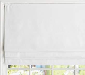"Pottery Barn Kids Linen Roman Shade 26 x 64"" Panel, White"