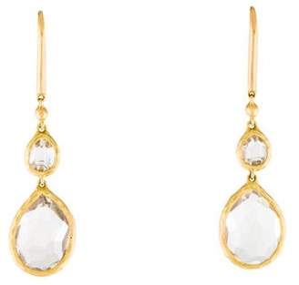 Gucci 18K Quartz Drop Earrings