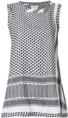 Cecilie Copenhagen patterned sleeveless tank top