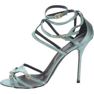 Pierre Hardy Green Leather Sandals
