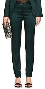 Boon The Shop Women's Classic Satin Mid-Rise Trousers - Green