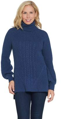 Cashmere Cable Knit Turtleneck Sweater - ShopStyle 523c2f46d
