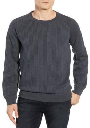Billy Reid Quilted Crew Neck Sweatshirt