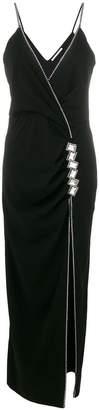 Alessandra Rich embellished V-neck dress