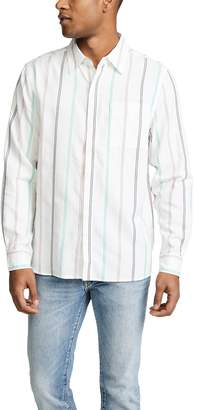 Saturdays NYC Mickey Tencel Stripe Long Sleeve Shirt