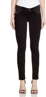 Paige Verdugo Skinny Maternity Jeans in Black Shadow
