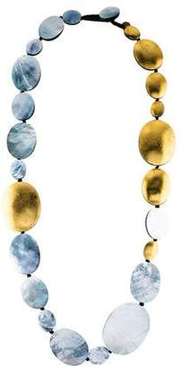 Mother of Pearl Viktoria Hayman & Resin Statement Necklace
