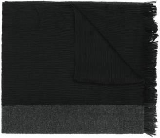 Issey Miyake fringed knit scarf