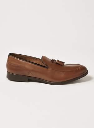 Topman HUDSON'S Tan Leather 'Alysham' Tassel Loafers