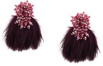 Mignonne Gavigan faux-feather earrings