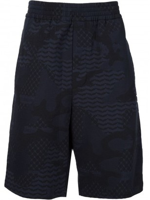 Neil Barrett patterned camouflage shorts $450 thestylecure.com