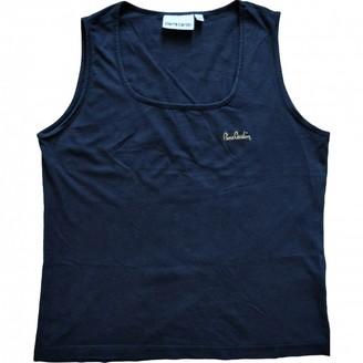 Pierre Cardin Black Cotton Top for Women Vintage