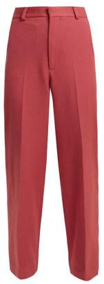 Raey Brushed Twill Trousers - Womens - Pink