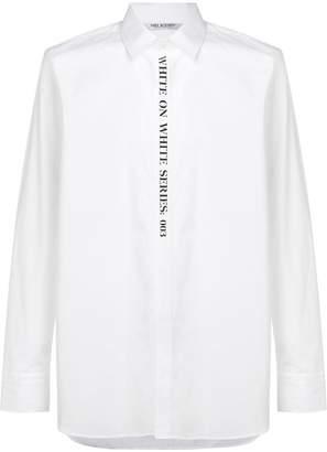 Neil Barrett White on White shirt